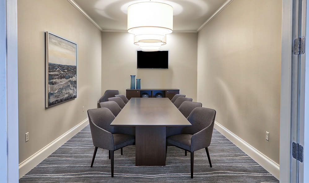 Meeting room at Fairview at Town Center Apartment Homes in Rochester, New York