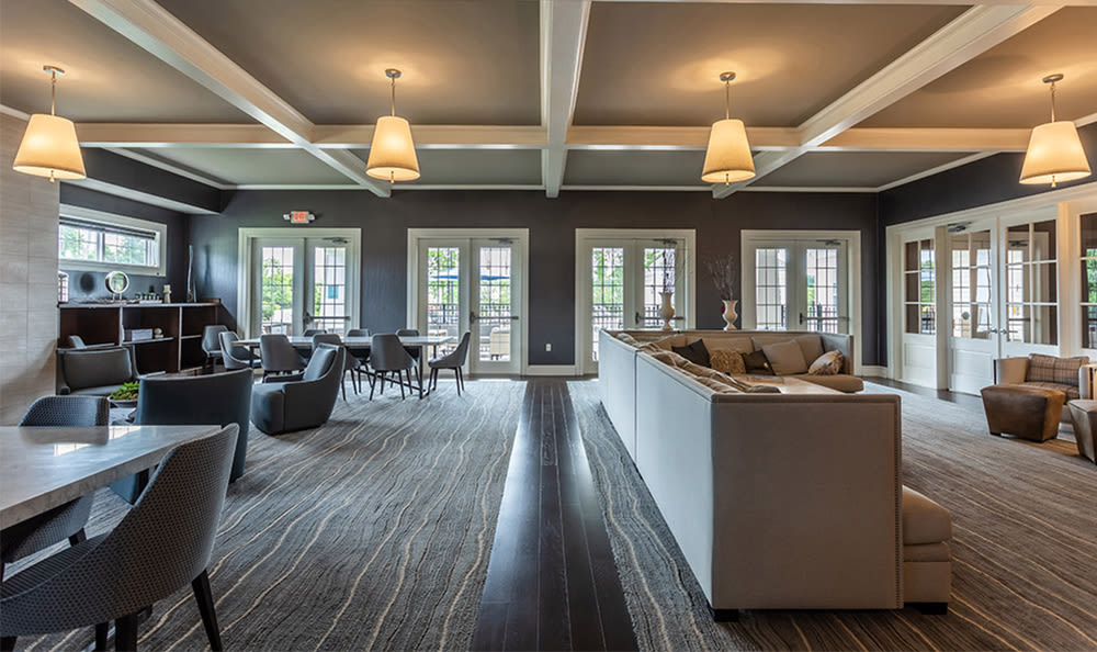 Bright clubhouse at Fairview at Town Center Apartment Homes in Rochester, New York