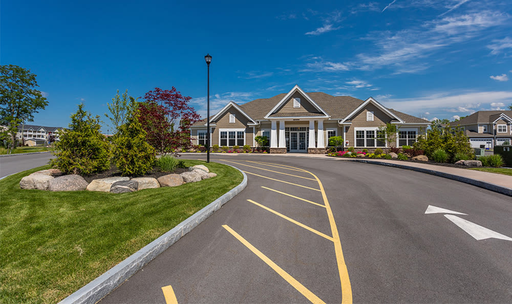 Driveway to Fairview at Town Center Apartment Homes in Rochester, New York