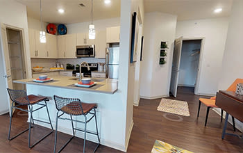 Virtual tour of a two bedroom apartment at Fairview at Town Center Apartment Homes in Rochester, New York