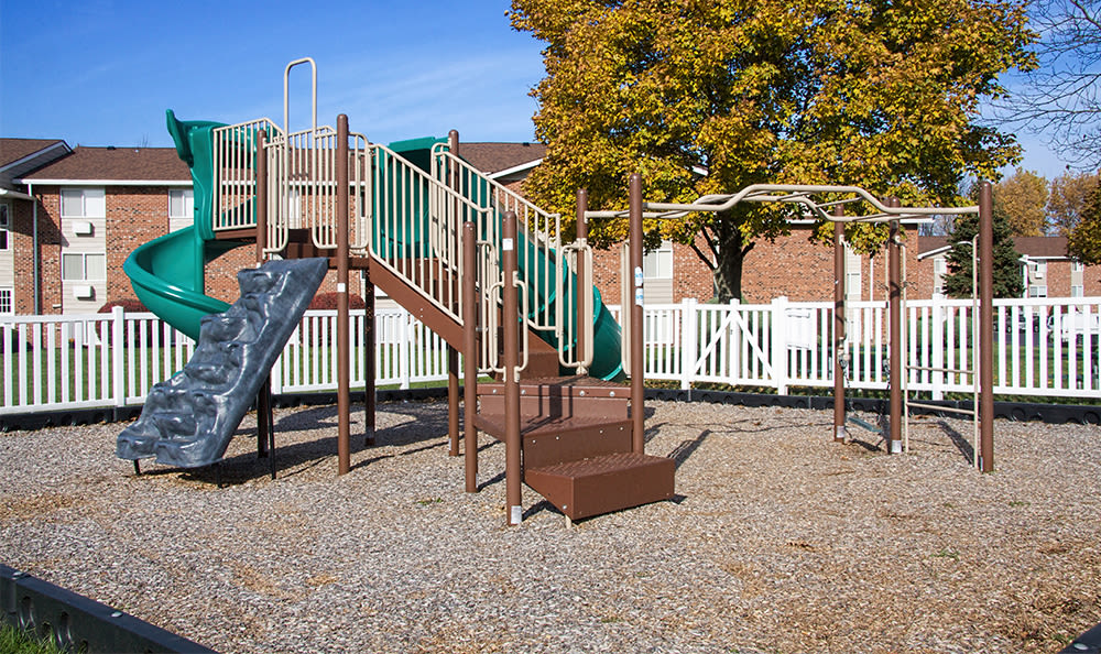 Playground at Highview Manor Apartments in Fairport, New York
