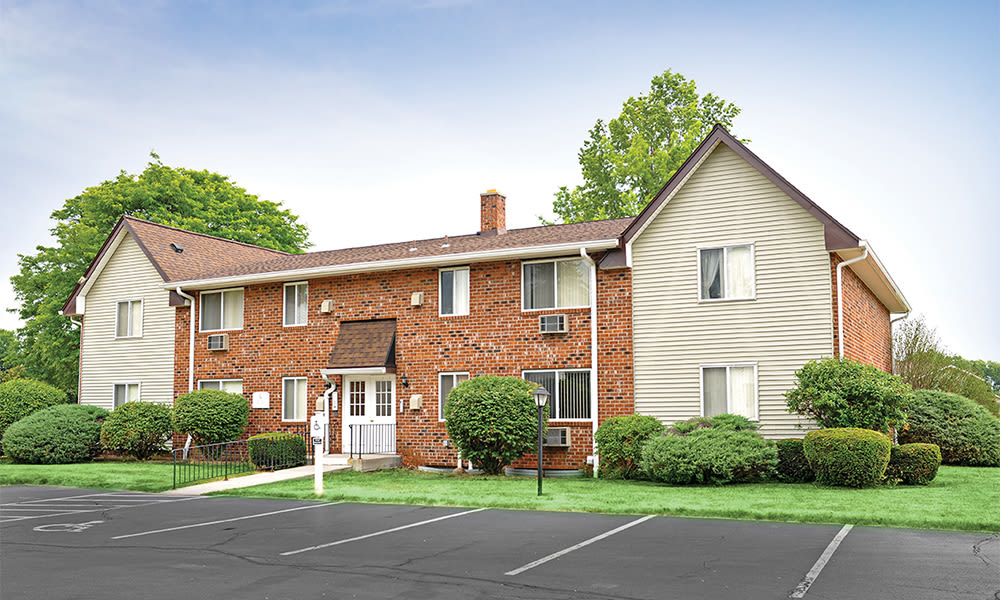 Exterior of Highview Manor Apartments home in Fairport, New York