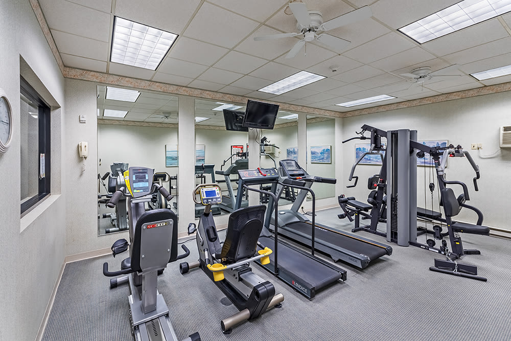 Fitness center at Maiden Bridge & Canongate Apartments in Pittsburgh, Pennsylvania