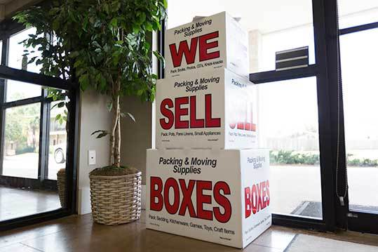Moving boxes available at StorageMax Baton Rouge in Baton Rouge, Louisiana