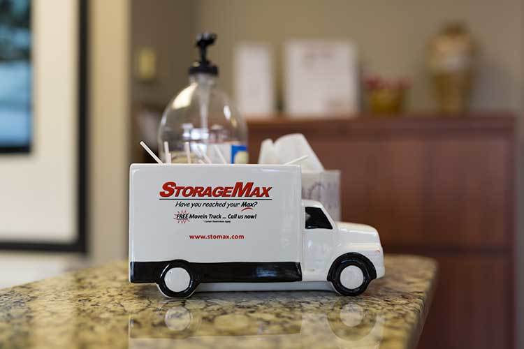 A toy StorageMax Baton Rouge moving truck in Baton Rouge, Louisiana