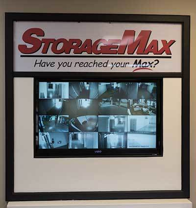 Security camera screens at StorageMax Baton Rouge in Baton Rouge, Louisiana