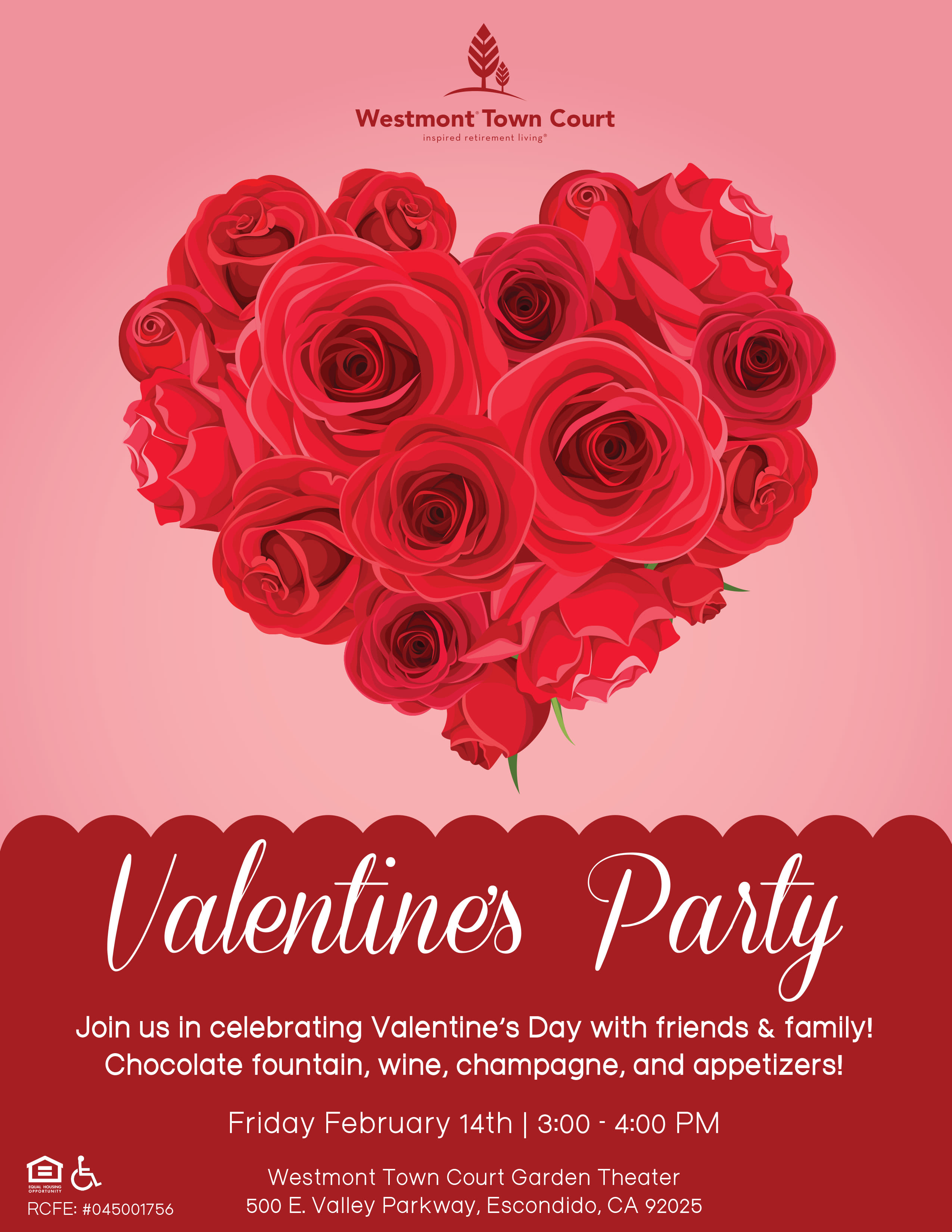 Westmont of Town Court Valentine's Party