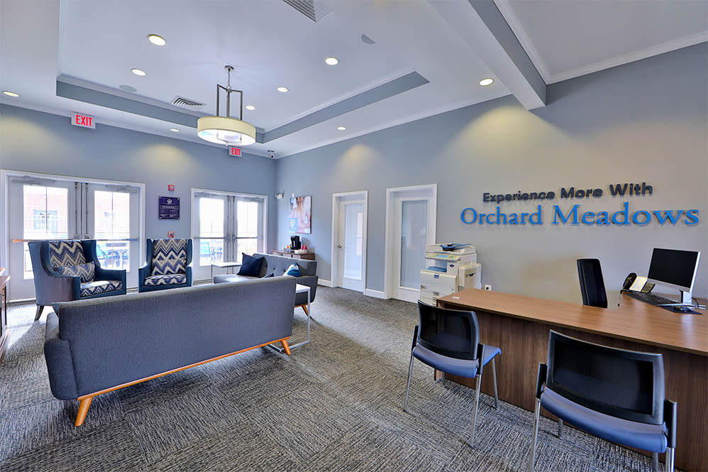 Leasing office at Orchard Meadows Apartment Homes in Ellicott City Maryland