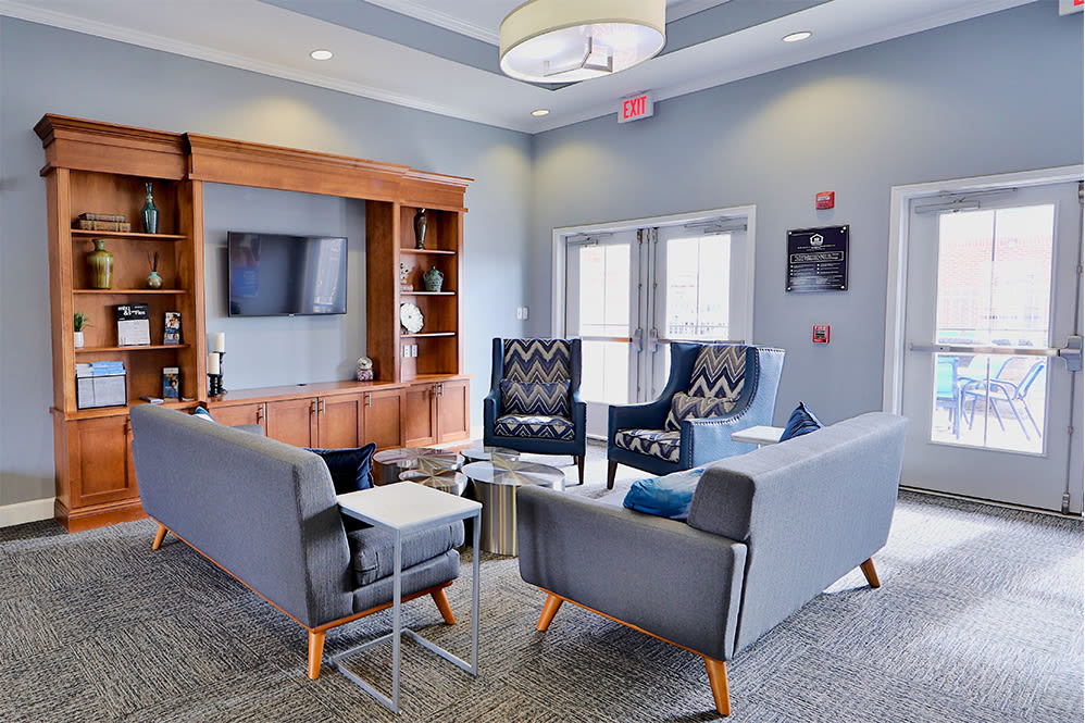 Clubhouse lounge at Orchard Meadows Apartment Homes in Ellicott City Maryland