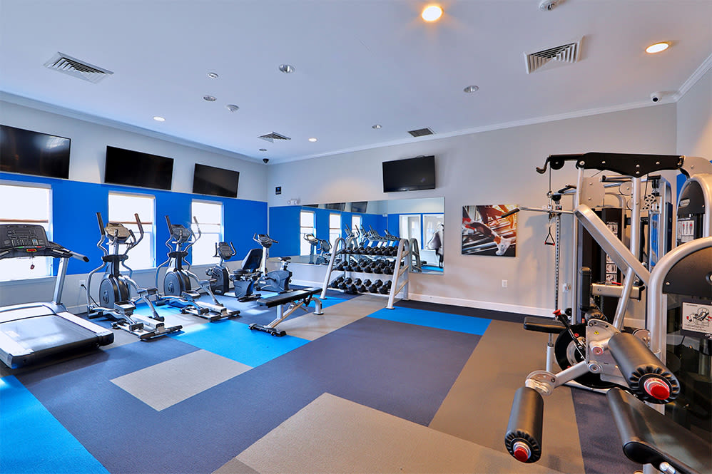 Fitness center at Orchard Meadows Apartment Homes in Ellicott City Maryland
