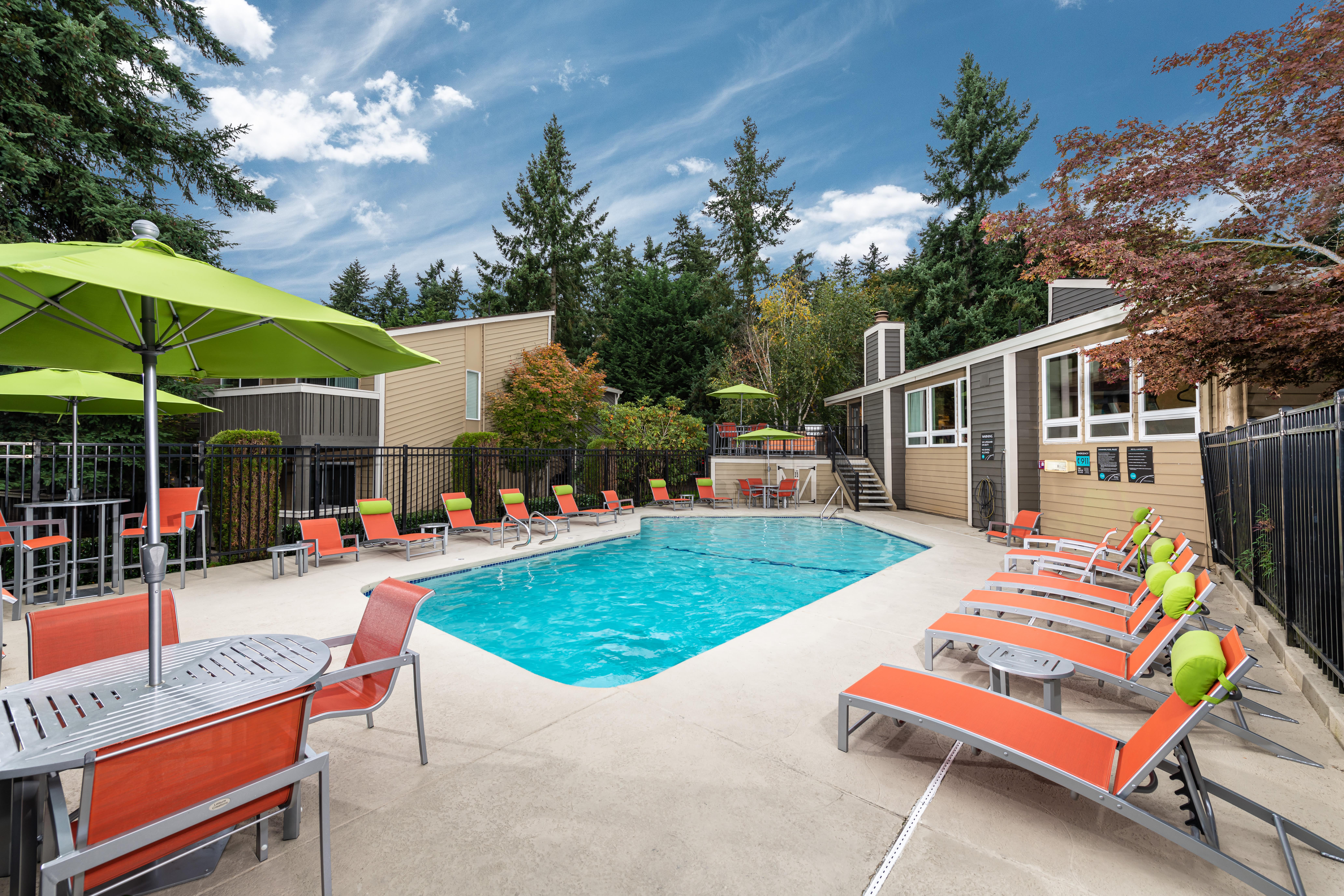Pool at Vue Kirkland Apartments in Kirkland, Washington