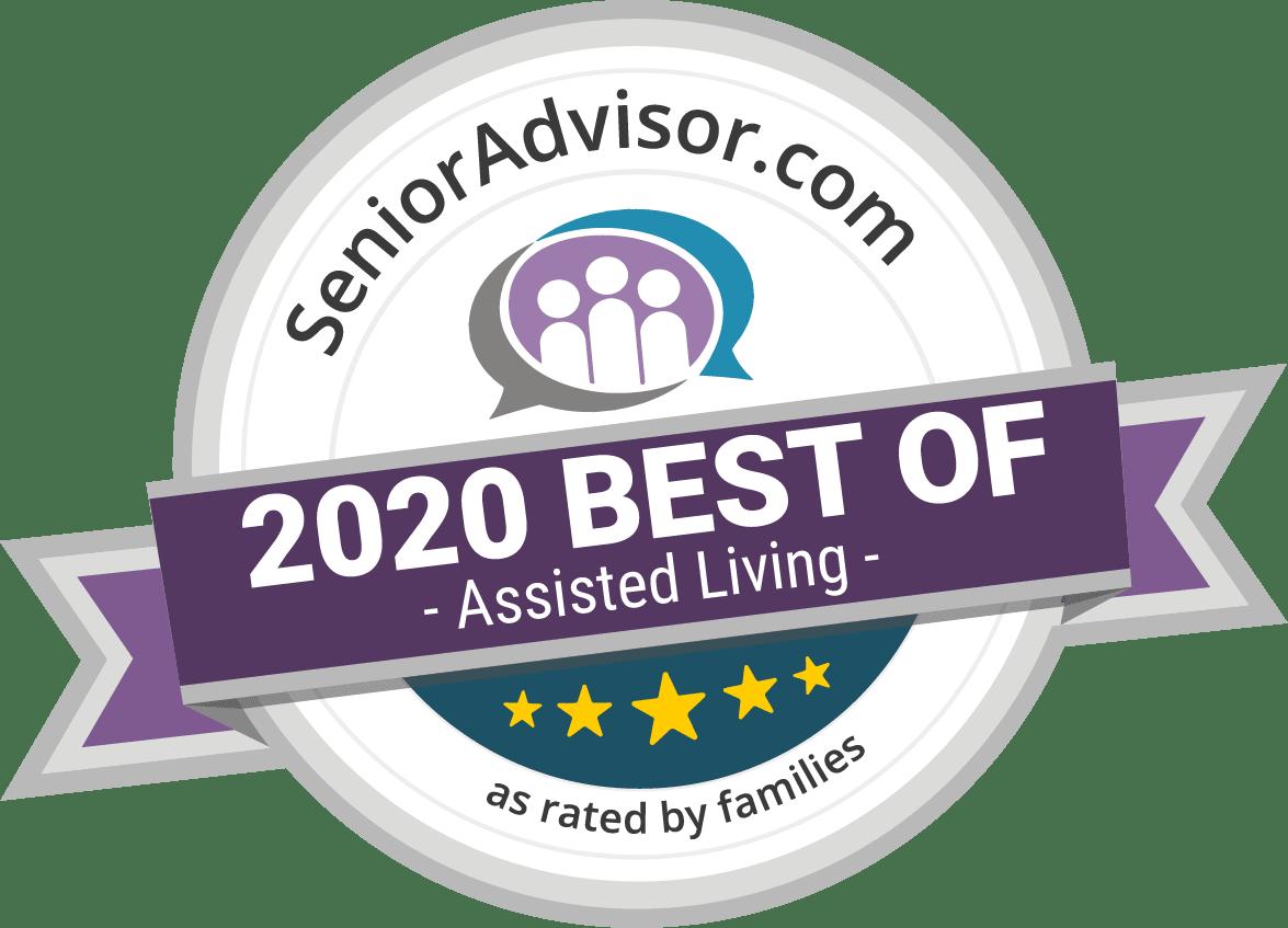 SeniorAdvisor.com 2020 Best of Assisted Living logo