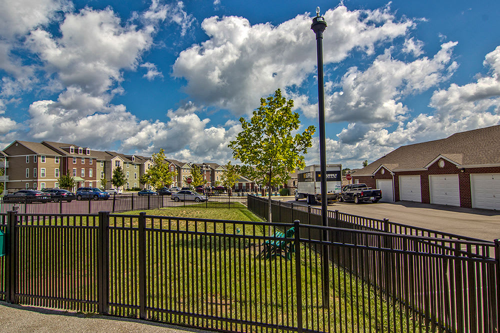 Dog park at Overlook Apartments in Elsmere, Kentucky