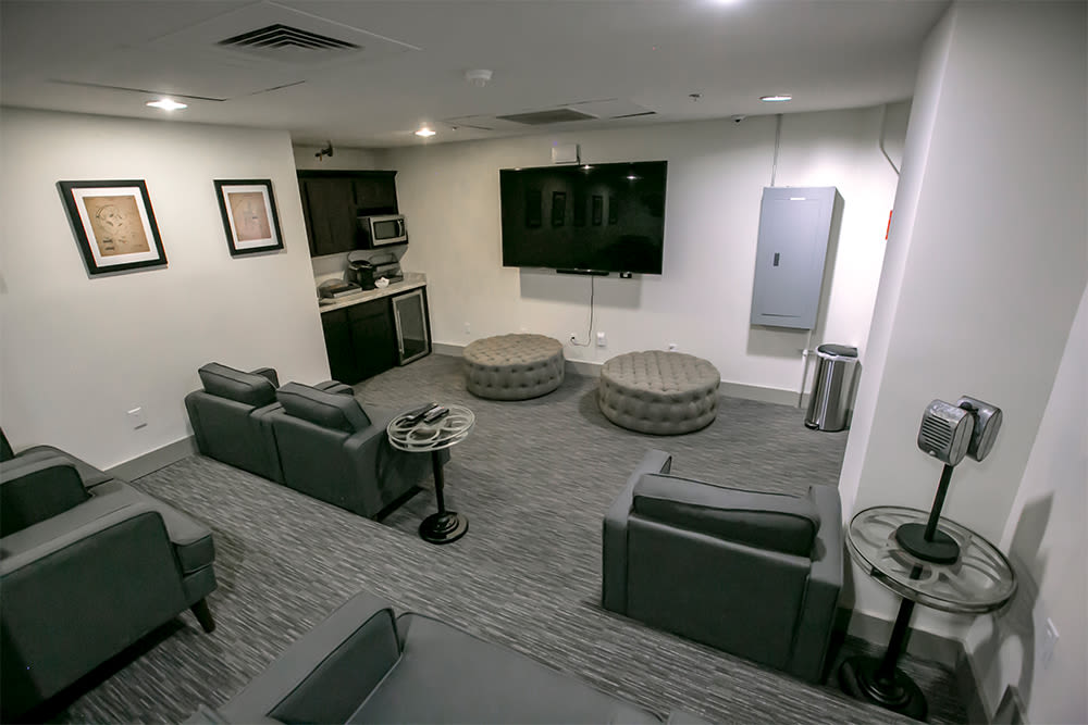 Modern clubhouse for residents at The Archer in Cleveland, Ohio