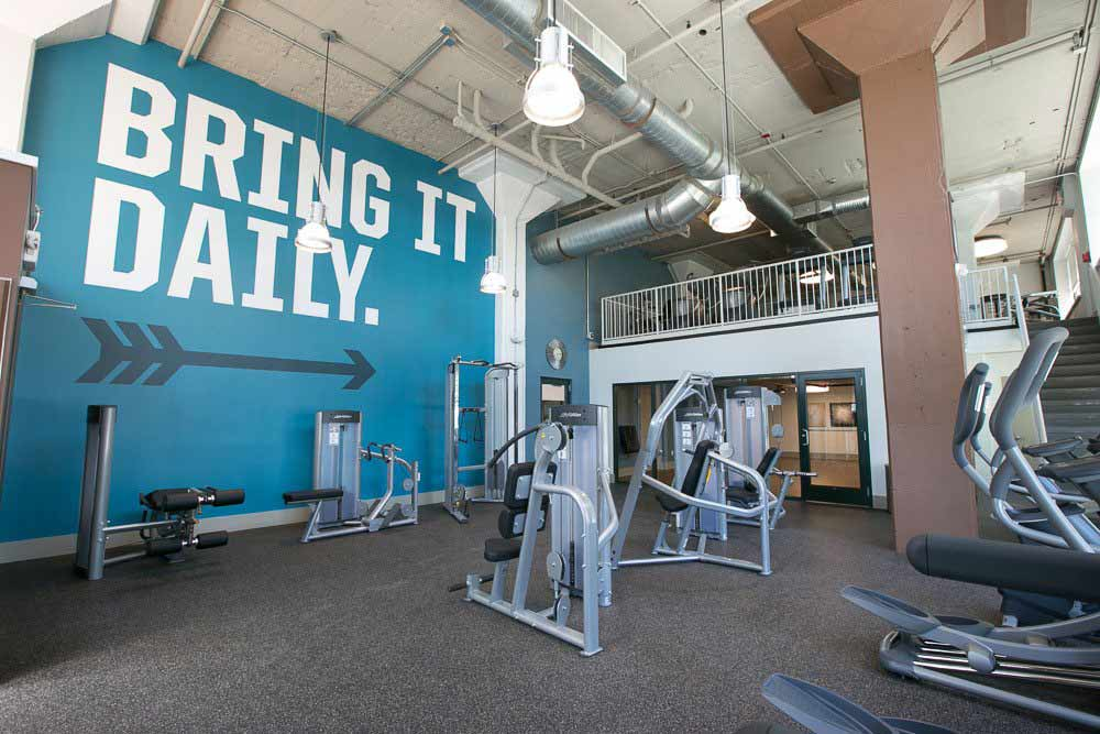 Stay healthy in our well equipped fitness center at The Archer in Cleveland, Ohio