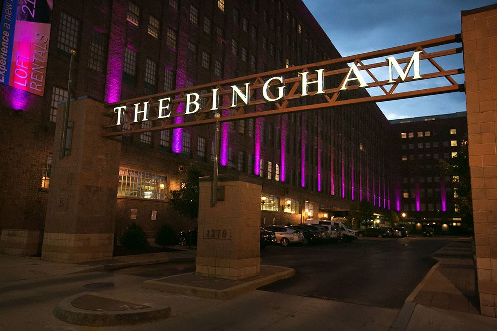 Building Exterior at The Bingham in Cleveland, Ohio
