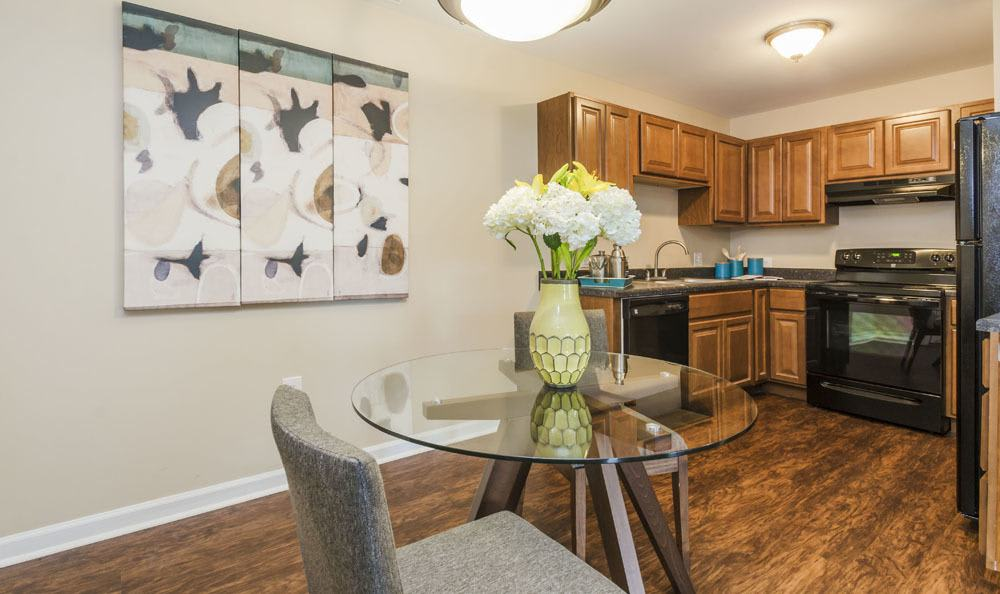 Bright kitchen at The Lakes at 8201 in Merrillville, Indiana