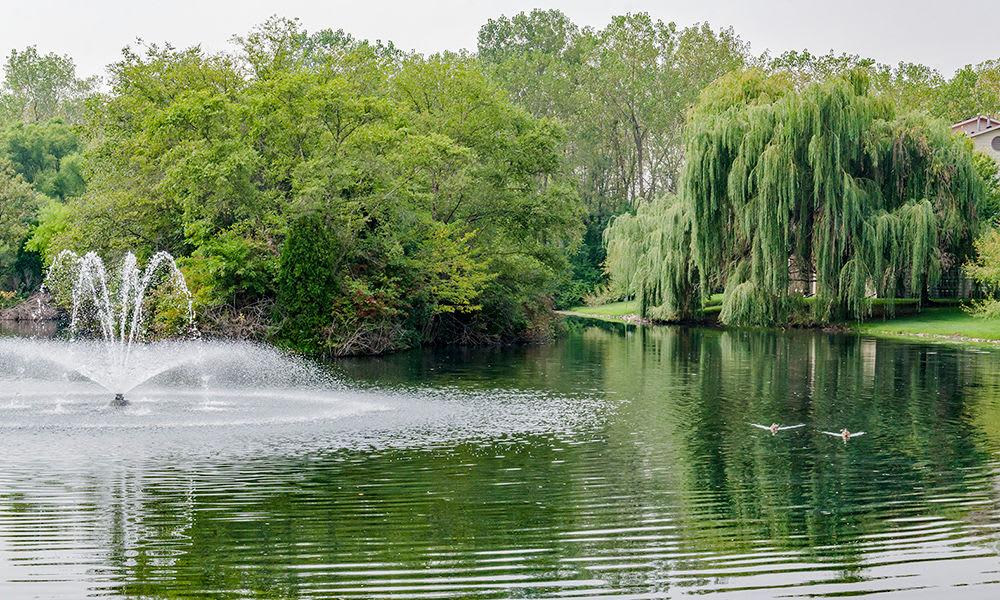 Lake views at The Lakes at 8201 in Merrillville, Indiana