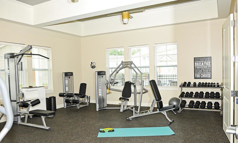 Stay healthy in our fitness center at Union Square Apartments in North Chili, New York