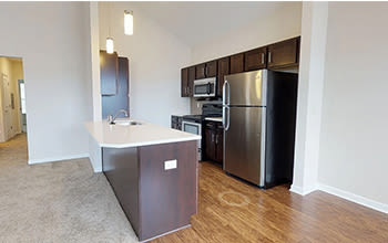 Virtual tour of a two bedroom apartment at Union Square Apartments in North Chili, New York