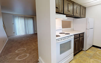 2 bedroom, 1.5 bath virtual tour for High Acres Apartments & Townhomes in Syracuse, New York