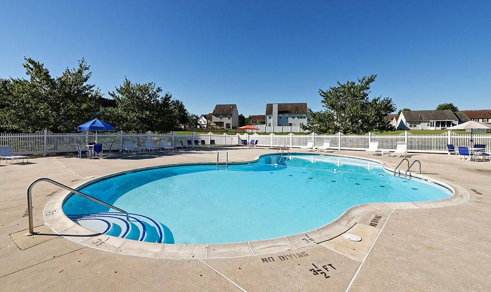 Beautiful swimming pool at Village of Westover in Dover, Delaware