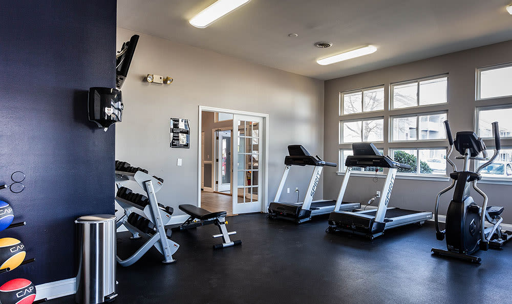 State-of-the-art fitness center at Village of Westover in Dover, Delaware