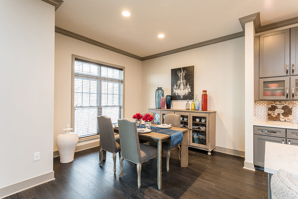 State-of-the-art dining room at Waters Edge Apartments in Webster, New York