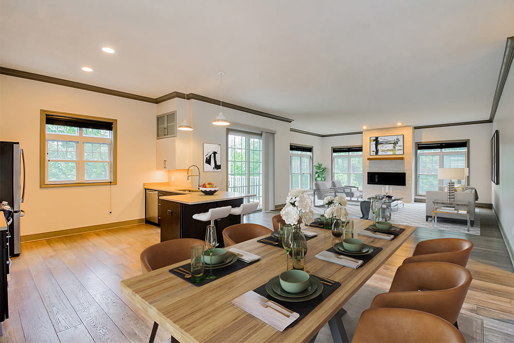Open floor plans at Waters Edge Apartments in Webster, New York