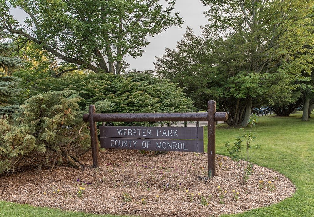 Welcome Sign to Webster Park near Waters Edge Apartments in Webster New York