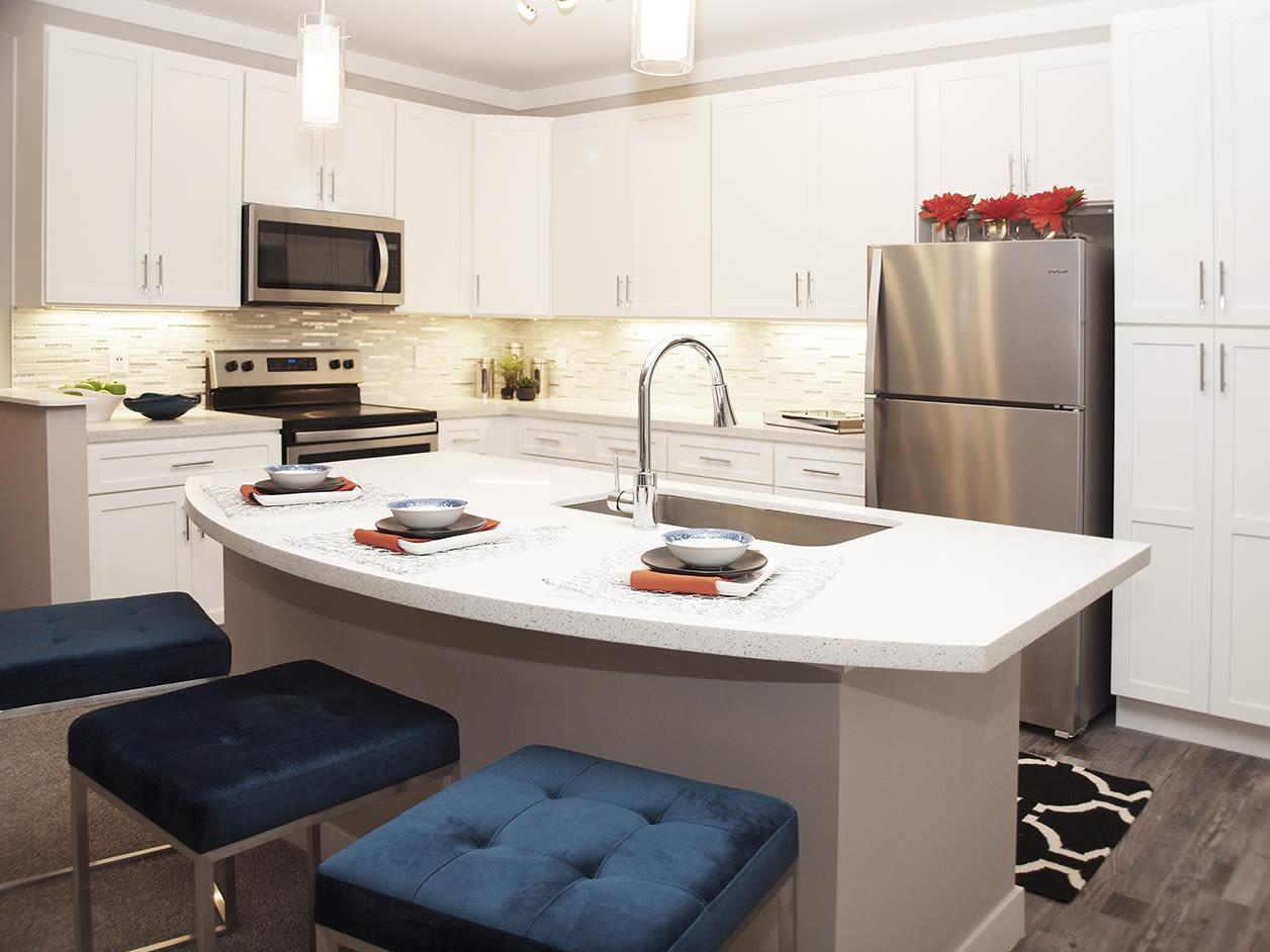 Modern Kitchen at Allure Apartments in Centerville, Ohio