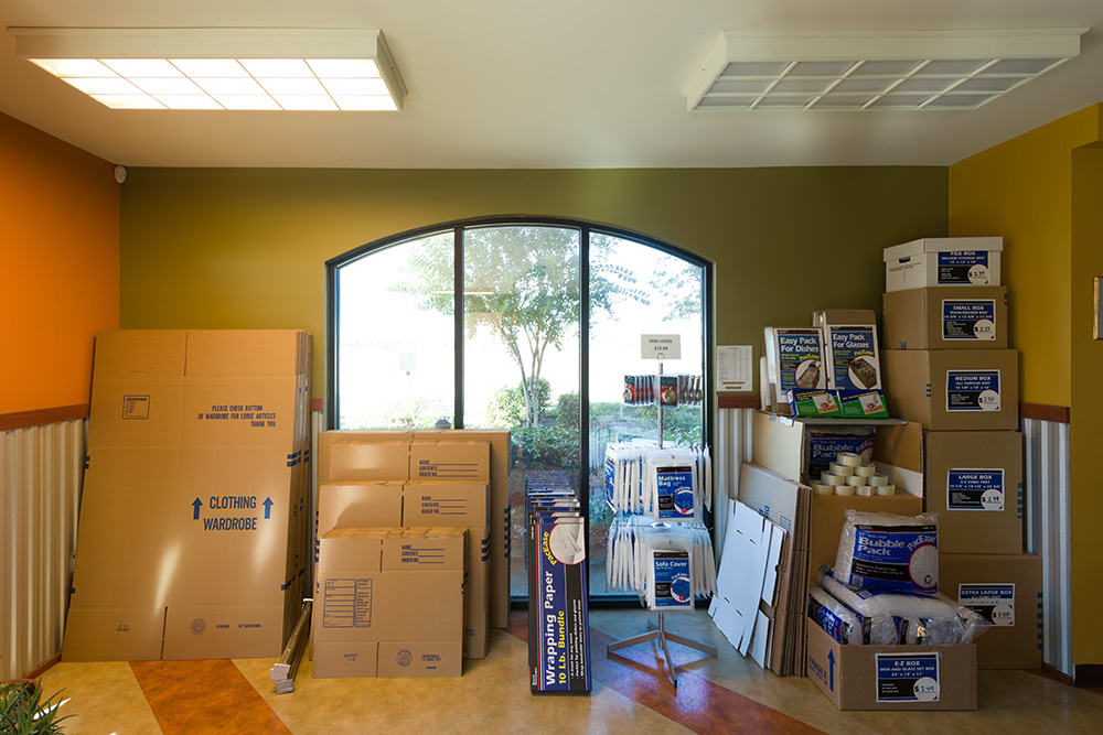 Moving supplies at Chino Self Storage in Chino, California