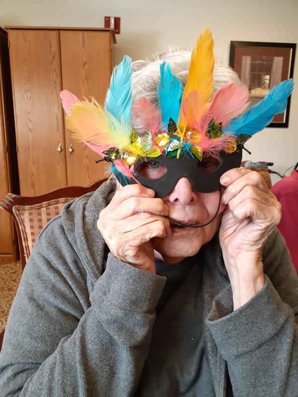 Mardi Gras crafting fun for seniors
