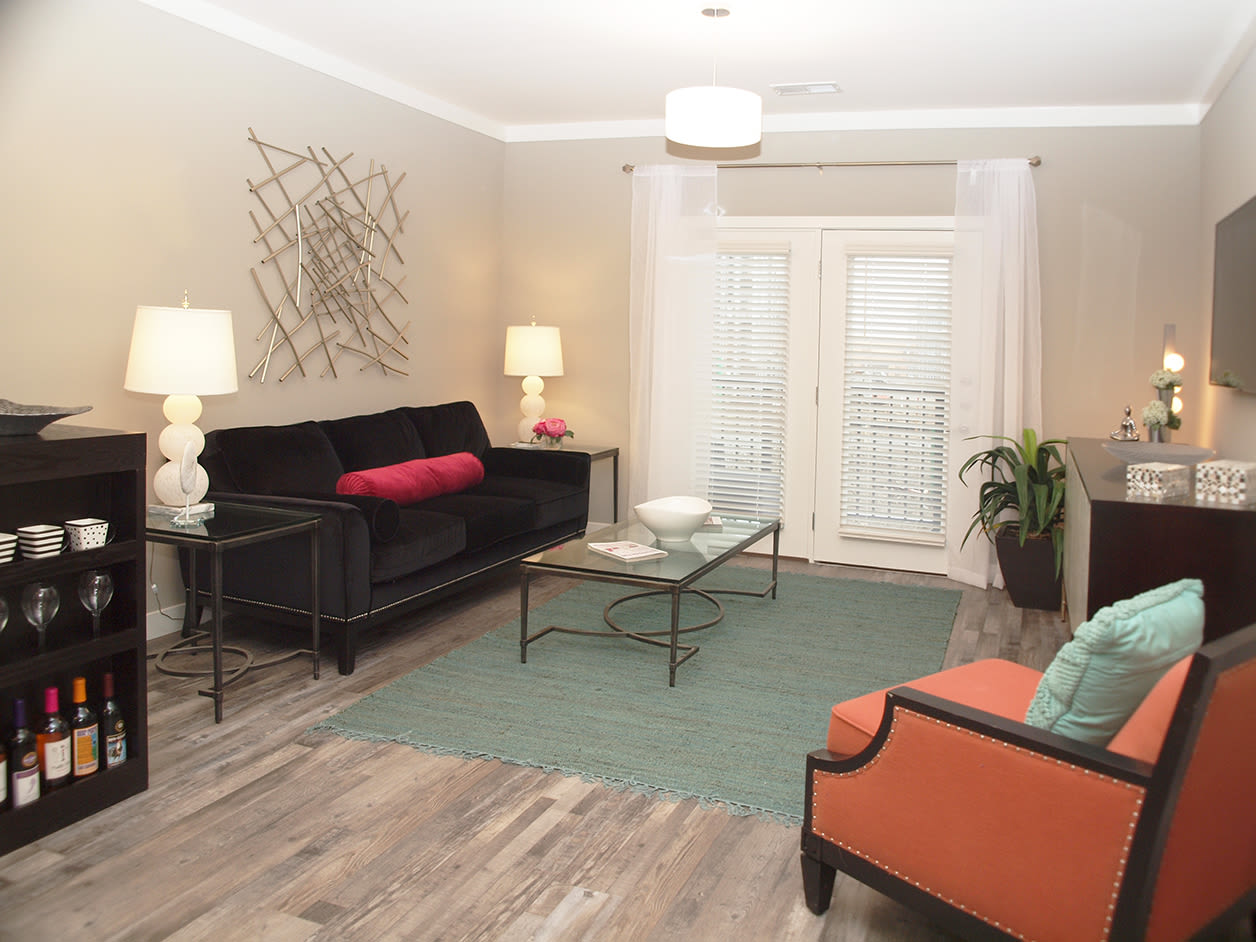 Living room at Allure Apartments in Centerville, Ohio