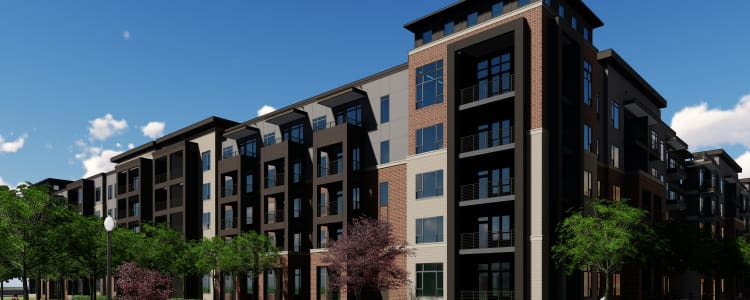 Exterior rendering of The Griffin Apartments