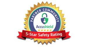 Accushield 5-star rating at Oakmont Gardens