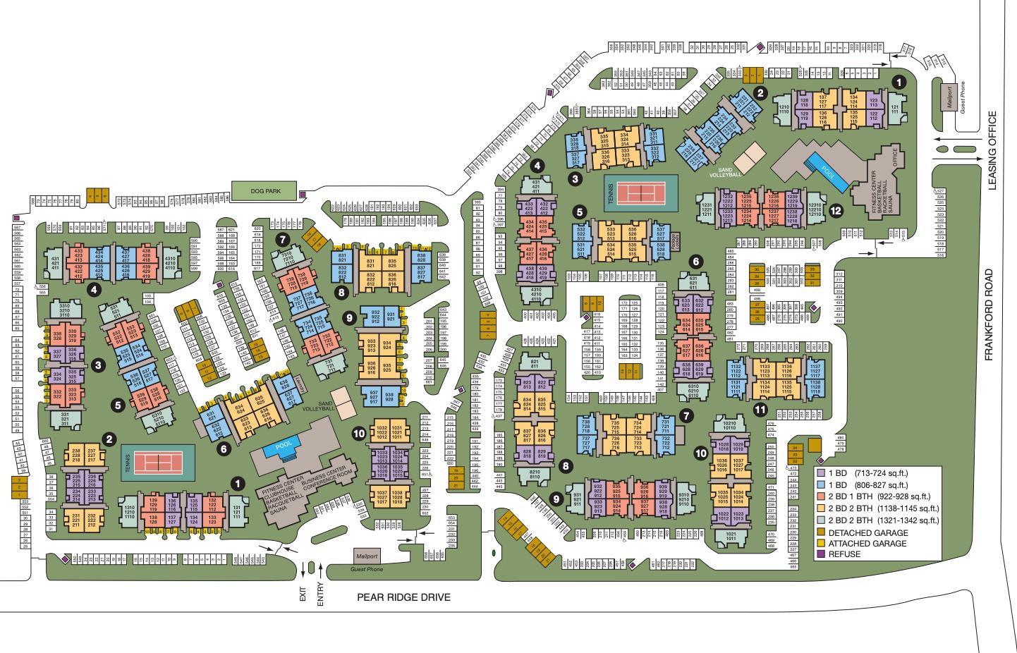 Site map of Rancho Palisades in Dallas, TX