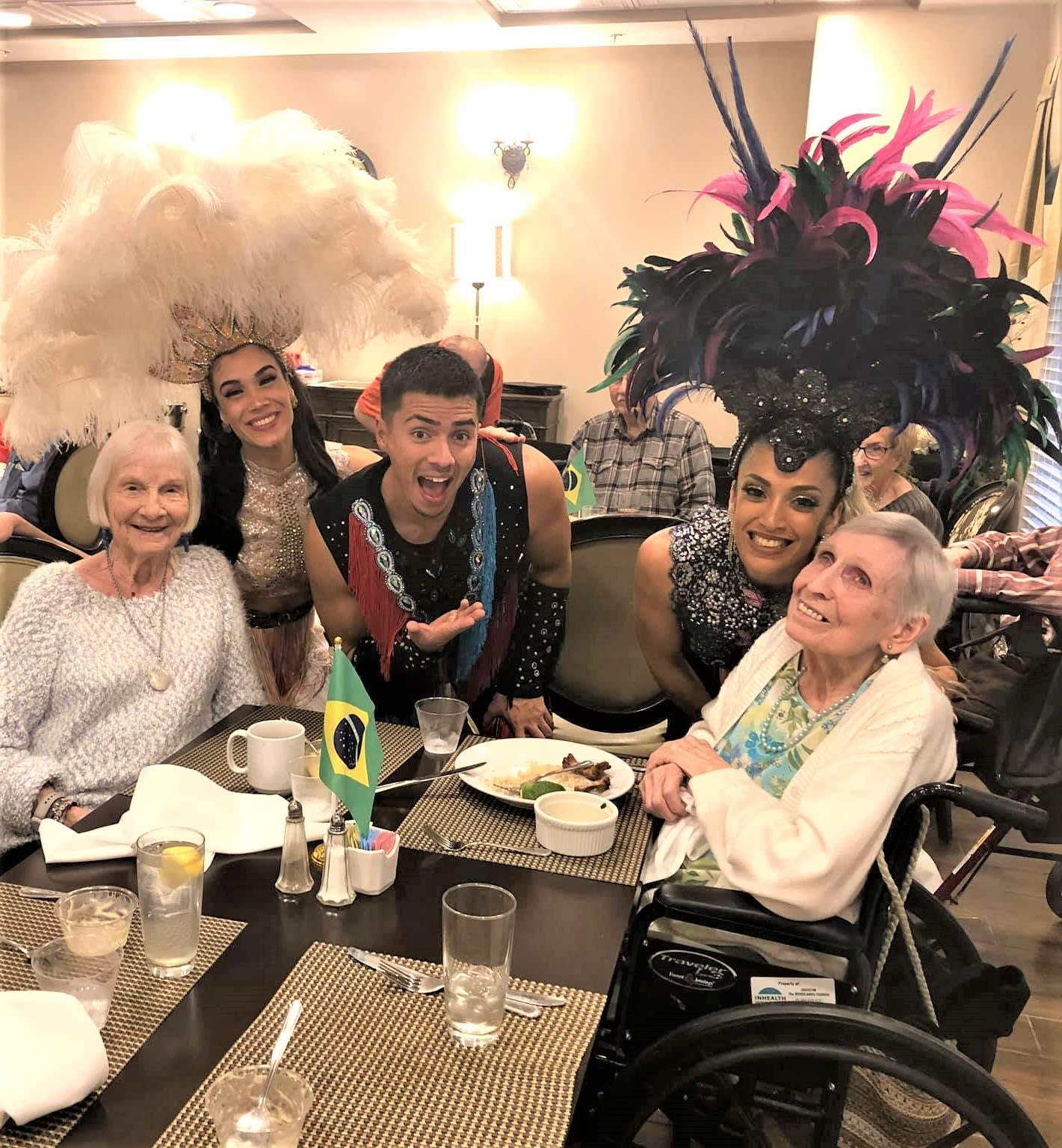 Brazilian Dancers at Inspired Living Ocoee in Ocoee, Florida.
