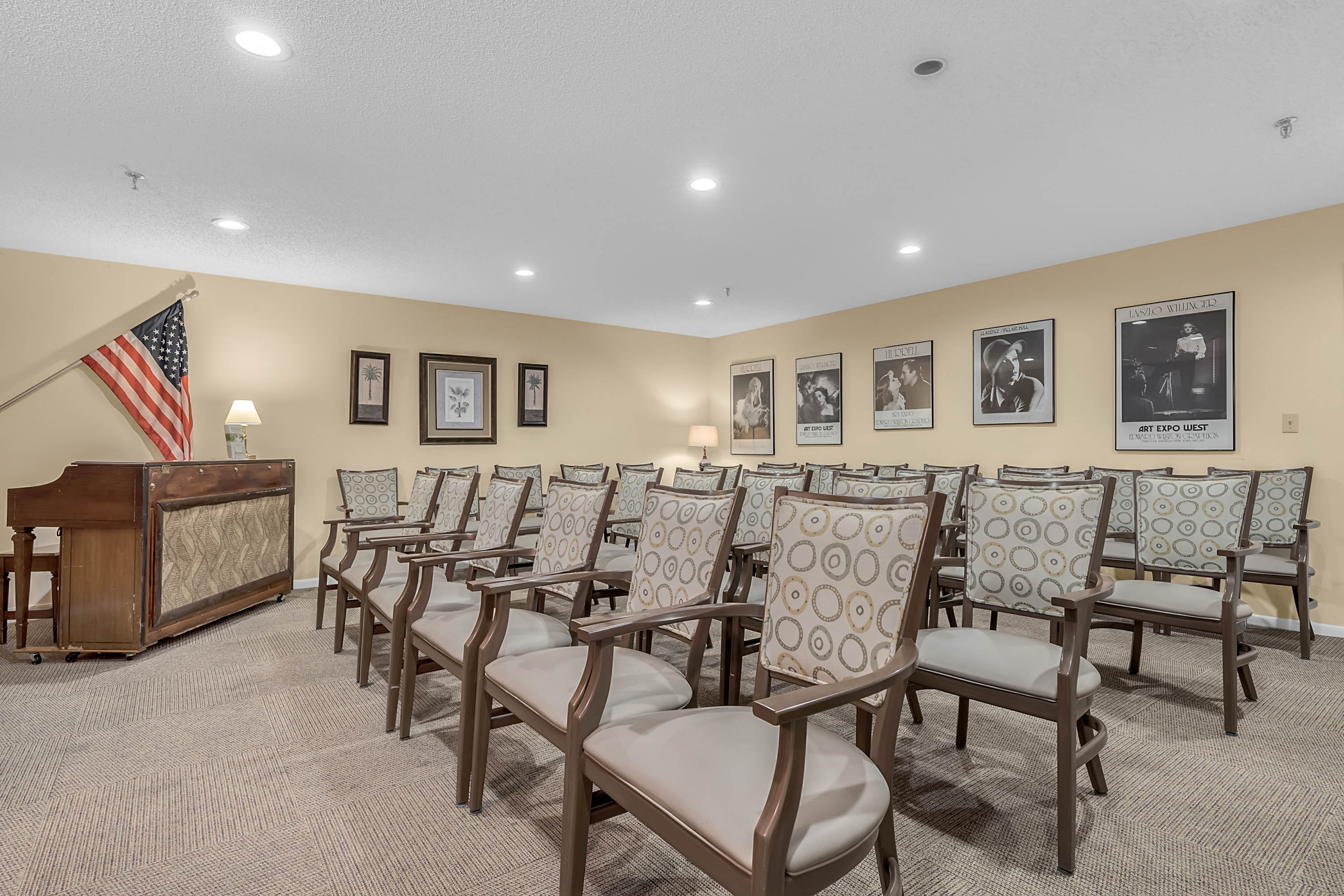 A Gathering Room at Renaissance Retirement Center in Sanford, Florida