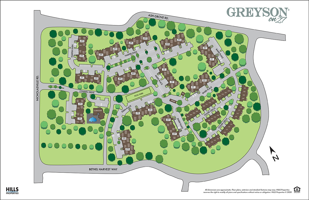 Site map of Greyson on 27 in Nicholasville, Kentucky