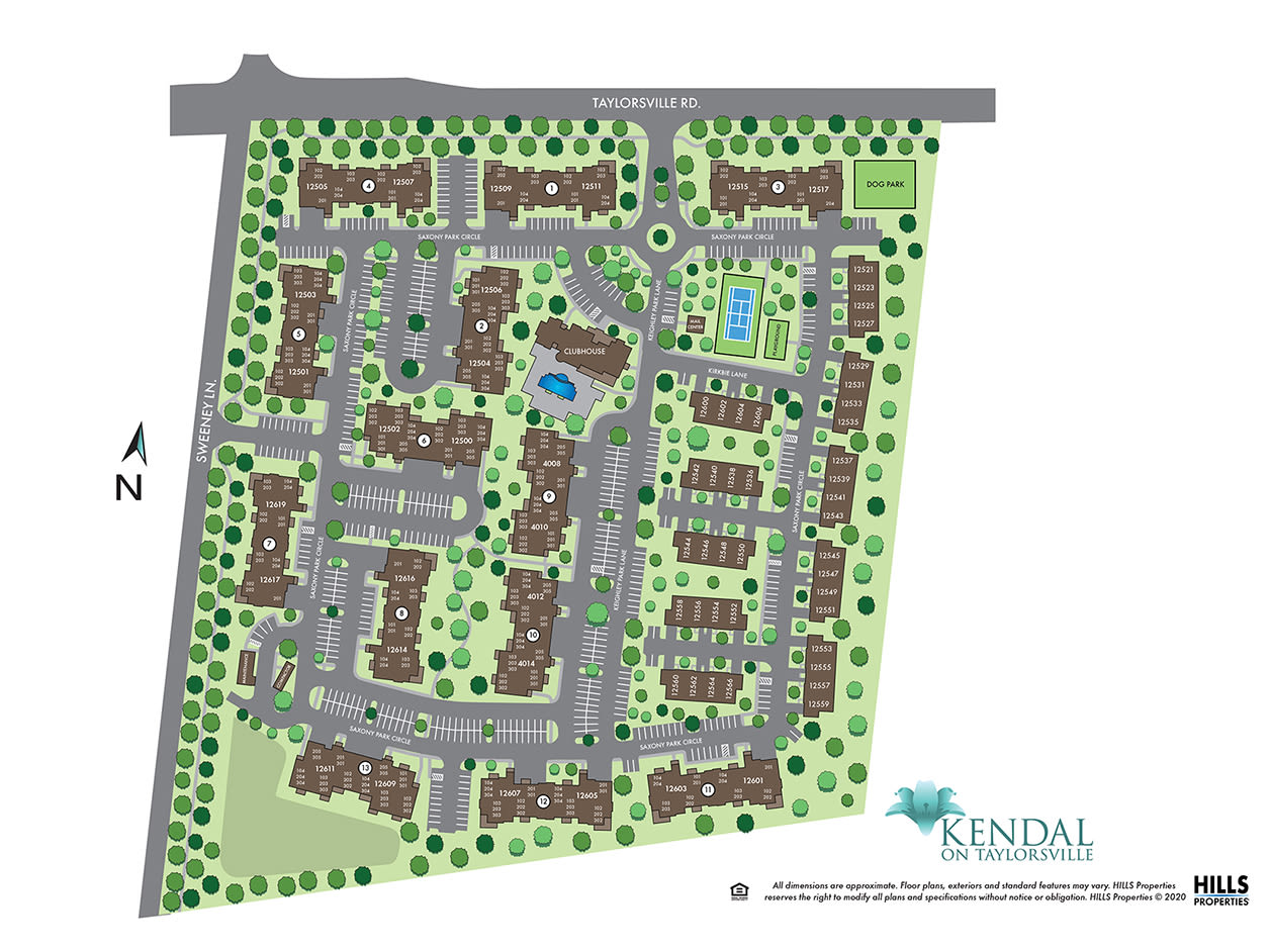 Site map of Kendal on Taylorsville in Louisville, Kentucky