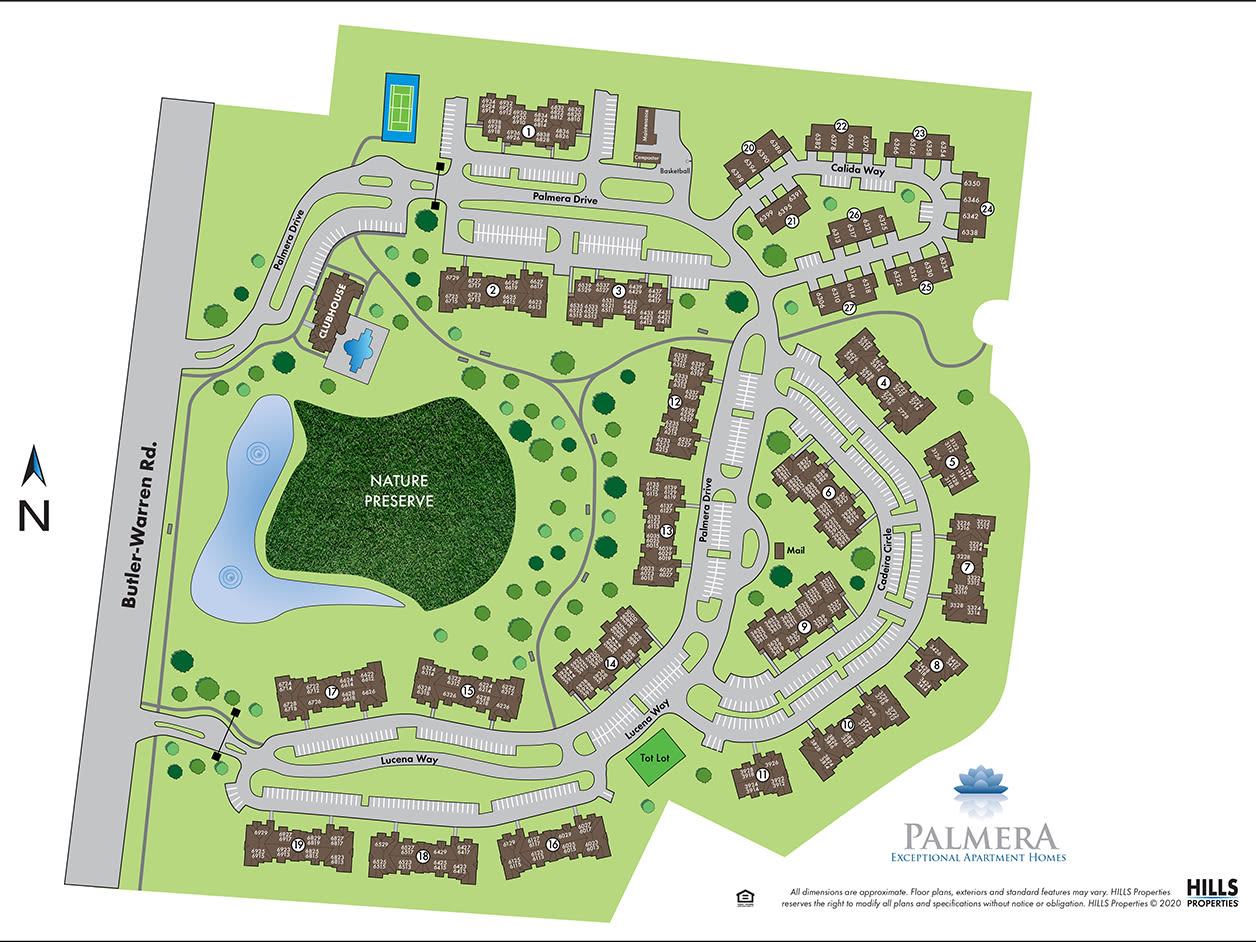 Site map of Palmera Apartments in Mason, Ohio