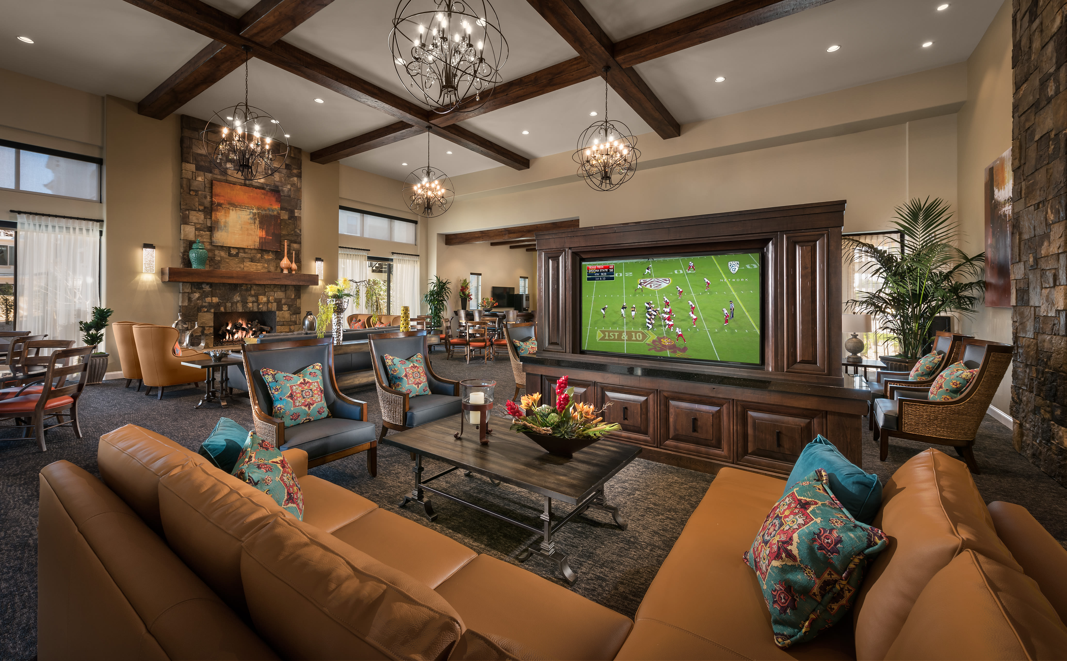 Resident clubhouse at San Villante in Mesa, Arizona