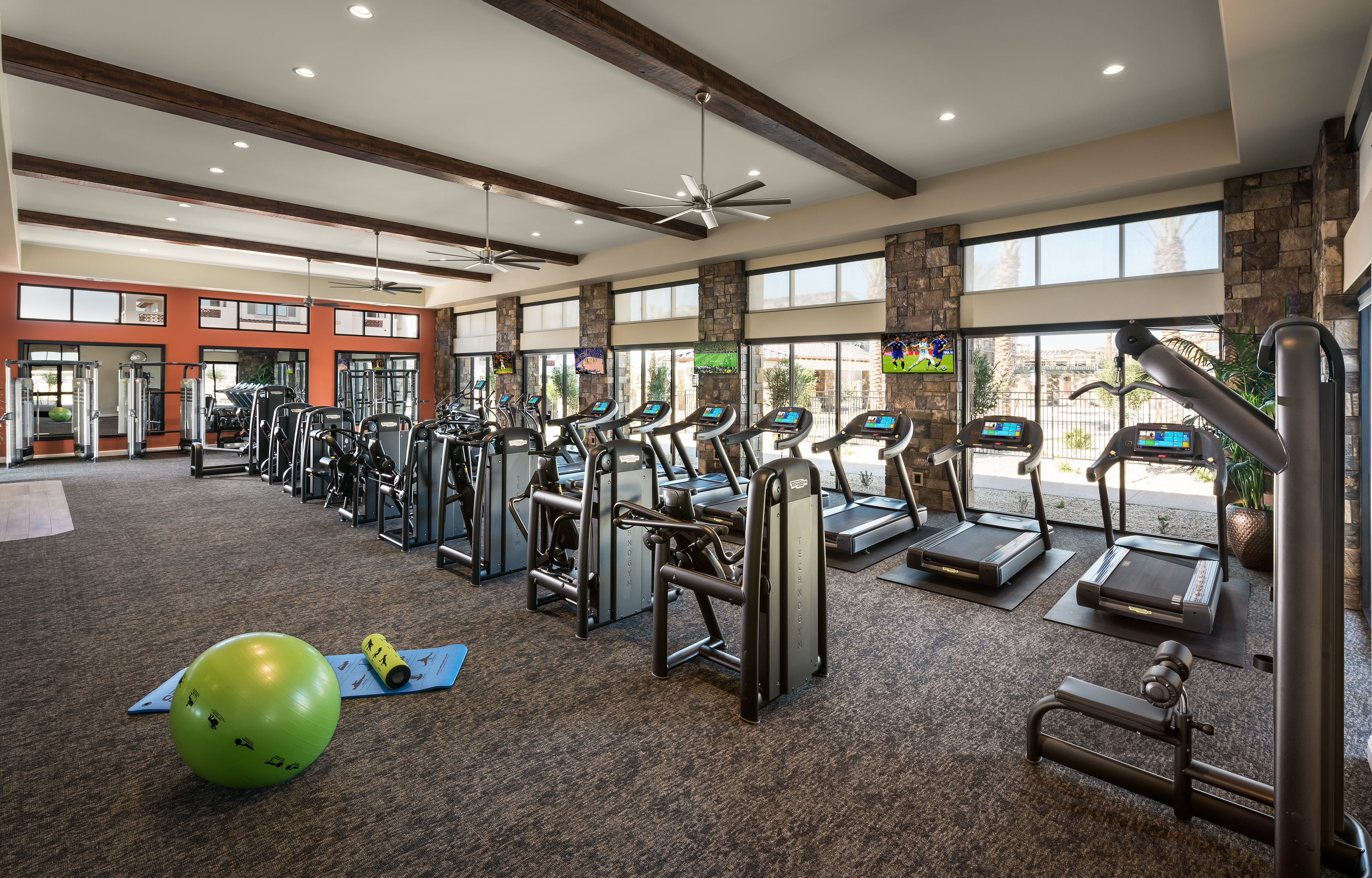 Fitness center at San Villante in Mesa, Arizona
