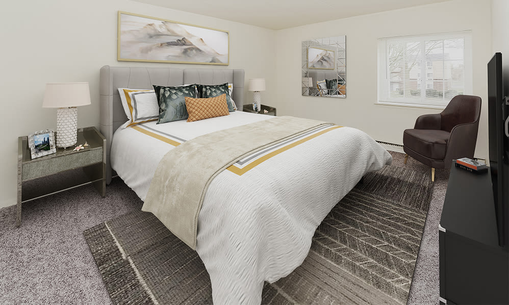 Bedroom at William Penn Village Apartment Homes in New Castle, Delaware