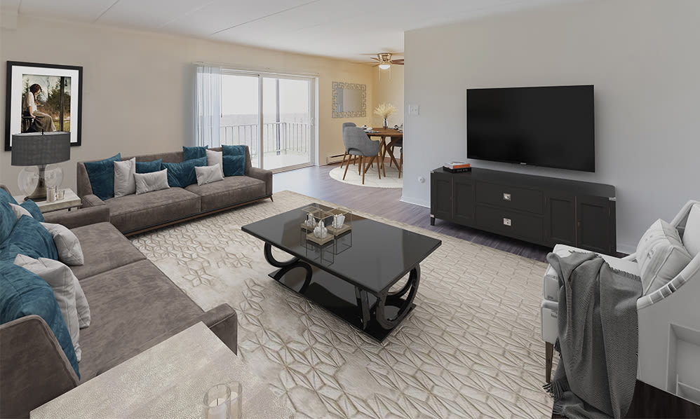 Spacious Living Room at William Penn Village Apartment Homes in New Castle, Delaware