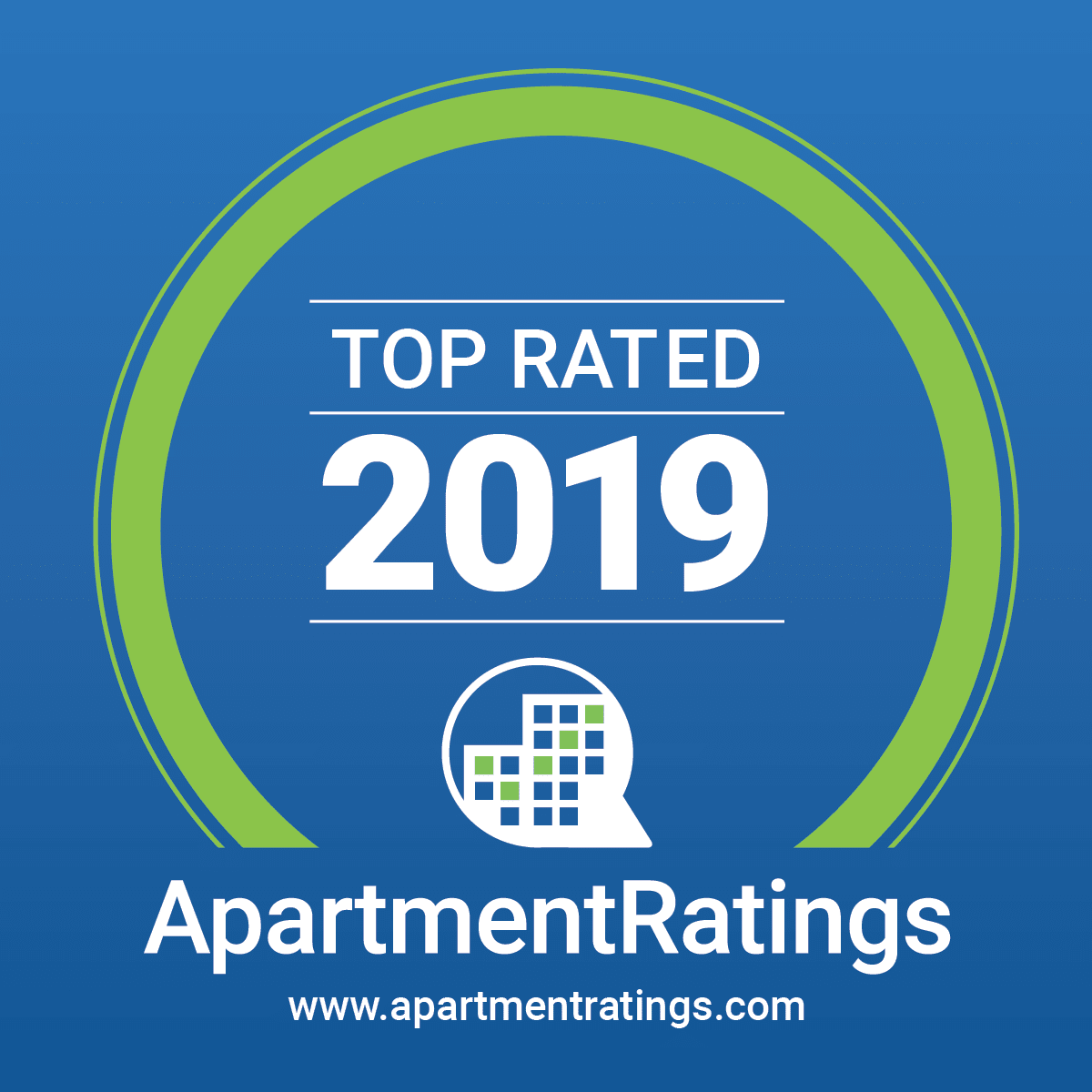 Voted 2019 Top Rated Apartments by ApartmentRatings.com
