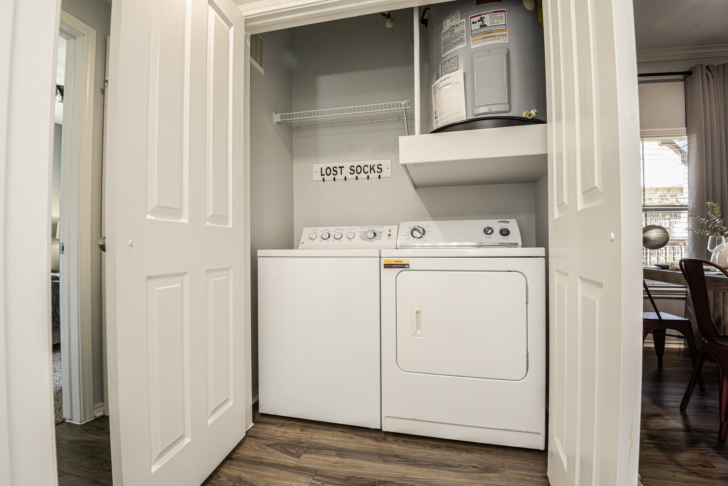 Washer and dryer included in units at Ranch ThreeOFive in Arlington, Texas