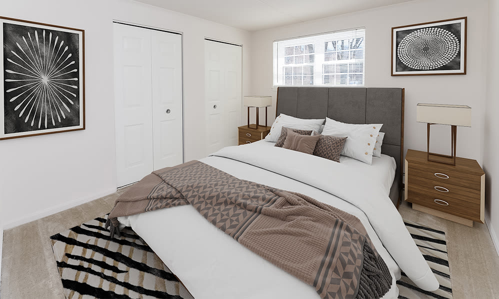 Cozy Bedroom at Waterview Apartments in West Chester, Pennsylvania
