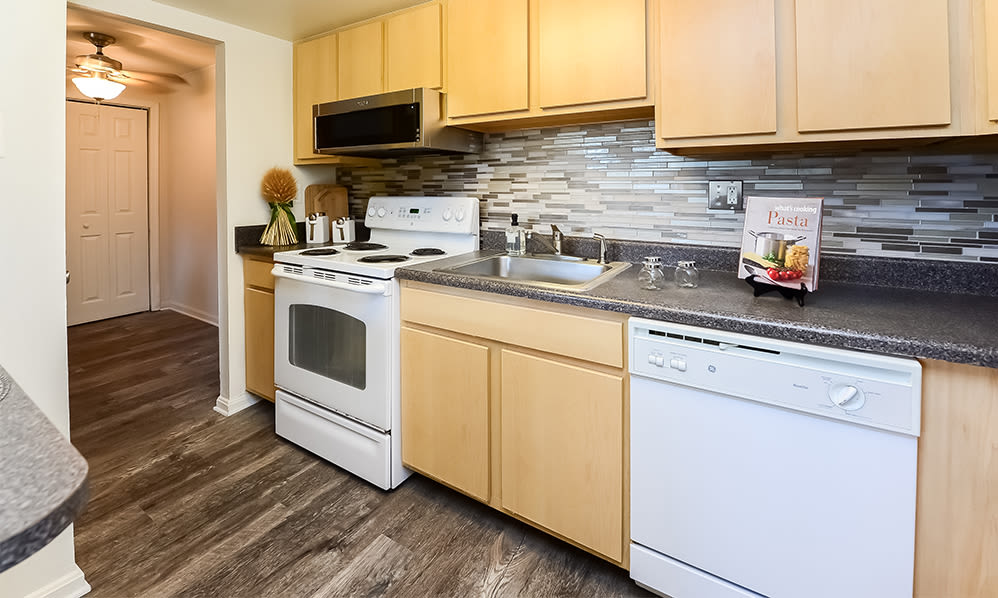 Kitchen at Waterview Apartments in West Chester, Pennsylvania
